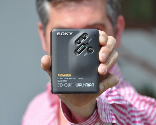 Sony Walkman came with Earbuds Types of Headphones