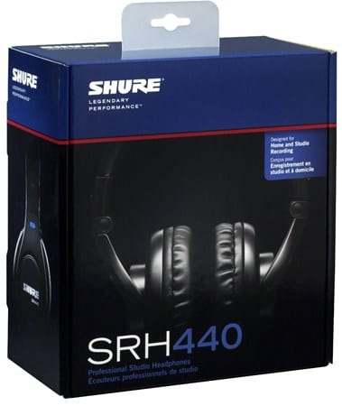 Shure SRH440 box - Best Over Ear Headphones over 100