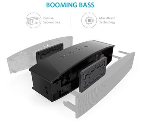 Anker A3143 bass - Best Portable Bluetooth Speaker under $100