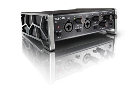 TASCAM US-2x2 - best audio interface under $200 - featured image