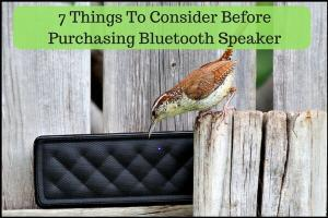 7 Things To Consider Before Purchasing Bluetooth Speaker